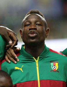 Christian Bassogog of Cameroon  during the 2017 Africa Cup of Nations Finals football match between Burkina Faso and Cameroon at the Libreville Stadium in Gabon on 14 January 2017 ©Gavin Barker/BackpagePix