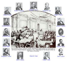 Sixteen African-American men who served in the U.S. Congress during Reconstruction.  This is a part of our history that is often left out of history classes.  If you click the names under each man's picture you can read a short biography of their lives.  Some of the Congressional speeches are linked below the picture.   Very interesting.