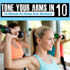 Be sure to follow on Pinterest, Google +, and Facebook for more workouts and fitness ideas! Tone and tighten your arms in just 10 minutes with this awesome at-home workout! All you'll need is…