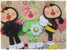 Ideas Para Fiestas, Forest Friends, Tole Painting, Felt Dolls, Cute Characters, Cute Cards, Paper Piecing, Projects For Kids, Ladybug