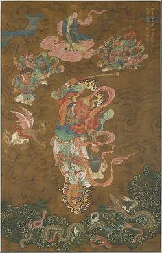 Unidentified Artist. Master Thunder (Lei Gong), dated 1542. China. The Metropolitan Museum of Art, New York. Purchase, Bequest of Dorothy Graham Bennett, 1989 (1989.155) #Halloween