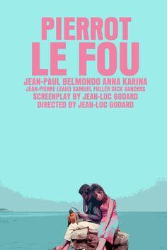 Godard / Karina Movie Poster Set: Pierrot Le Fou / Vivre Sa Vie / Bande A Part / Alphaville