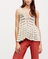 Free People Circles Within Sleeveless Crochet Sweater