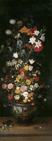 File:Jan Brueghel (I) - Flowers in a vase.jpg