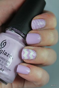 My nails for our nailbloggers' meet! China Glaze - Sweet Hook / China Glaze - White Out / Nail Vinyls / Konad - White / MoYou London - Scholar Collection 02