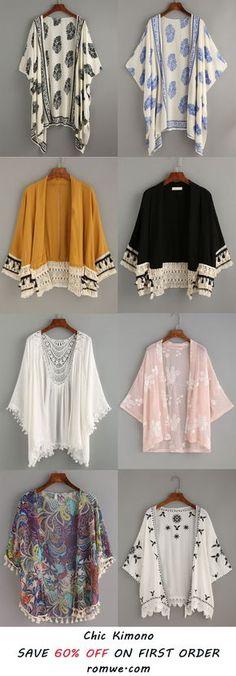 Los kimonos son una muy buena prenda para combinar. Amor por los kimonos