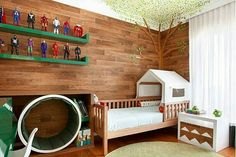 Inspiração ♡ #interiores #design #interiordesign #decor #decoração #decorlovers #archilovers #inspiration #ideias #dormitórioinfantil #bedroom #quartoinfantil #kidsroom #quartodemenino #boyroom