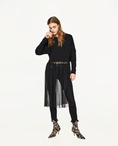 ZARA - WOMAN - SWEATER WITH TULLE