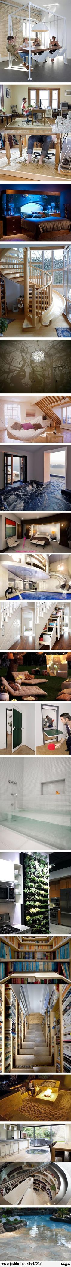 Funny pictures about Very Clever House Ideas. Oh, and cool pics about Very Clever House Ideas. Also, Very Clever House Ideas photos. Future House, My House, House Ideas, Deco Design, House Goals, Life Goals, Cool Rooms, Awesome Bedrooms, My Room