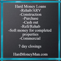 The nations leading hard money lenders for real estate investors.