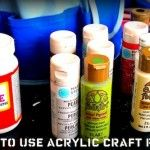 8 tips for how to use acrylic paint.