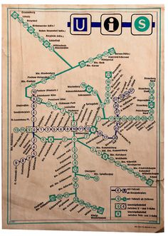 U-Bahnplan von Ostberlin (DDR) aus dem Jahr 1988
