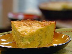 Broccoli Cheddar Cornbread from the neeley's.    This is SO good and makes SO much. It is better to think of this as a brunch or lunch with a green salad. Reminds me more of quiche.