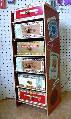 Cigar Box Storage Cabinet