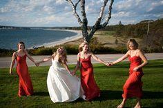Amsale bridesmaids | photo by  David Murray Weddings