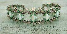 Bracelet of the Day: Ivy Bracelet Variation - Mint & Mauve