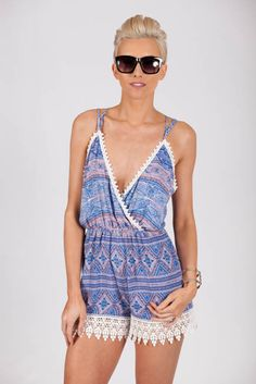 Backless is the Answer Printed Boho Playsuit