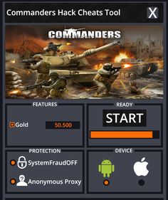 Commanders Hack Cheats Tool  Commanders Hack is Modhacks.com a new tool, that we all want to present to you. If you ever glimpse at all the other hacks on line, this amazing tool is the most effective. This specific tool was made to be functioning on Android os and iOS devices. That includes iPhones, …
