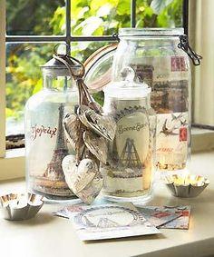 Display Christmas cards in jars