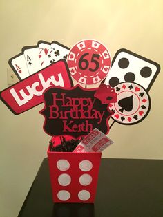 Casino Party Centerpieces, Birthday Party Centerpieces/ Decorations/Casino Party…