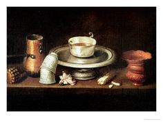 Still Life with a Bowl of Chocolate, or Breakfast with Chocolate, circa 1640    by Juan De Zurbaran