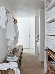 The White Company founder's pool house in London suburbs Alice Coltrane, The White Company, Kitchen Flooring, Natural Wood, London, Mirror, Interior Design, House, Furniture