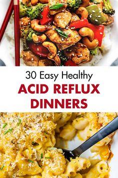 Low Acid Recipes, Acid Reflux Recipes, Healthy Dinner Recipes, Diet Recipes, Diet Meals, Healthy Dinners, Acid Reflux Diet Plan, Reflux Gastrique, Gerd Diet