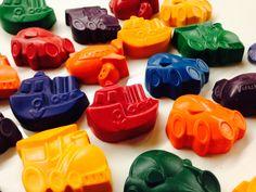 25 Transportation Shaped Crayons, Transportation Birthday, Transportation Party, Things that go birthday theme, Recycled Crayon, Valentine by ScarletChickadee on Etsy https://www.etsy.com/listing/451403920/25-transportation-shaped-crayons