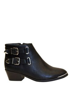 Look at this #zulilyfind! Black Beauty Double Buckle Boot #zulilyfinds