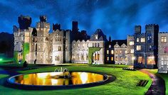 """""""🇮🇪 Ashford Castle - Cong - Ireland @Ashfordcastle •••••••••••••••••••••••••••••• ♠️♠️♠️♠️♠️♠️♠️♠️♠️♠️♠️ ——————————————— • • This massive castle was built over a number of centuries, starting with the first mansion built here in 1228. In 1589 protective fortifications were built, but it took until 1715 for the Ashford name to stick when a French-style chateau wing was added. • • Ireland's famous Guinness family bought the Ashford in 1852 and grew the estate to 26,000 acres, planted…"""