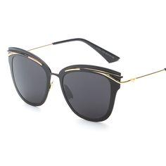 de0aa98fc0285 2017 Liga Olho de Gato óculos de Sol de Luxo Acolhedor Shades Homens  Mulheres Marca Designer Eyewear Óculos de Sol Oculos H817 em Óculos de sol  de Das ...