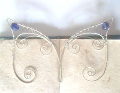 Silver Plated Handmade Wire Wrapped Elf Ear Cuffs by 29Moonbeams