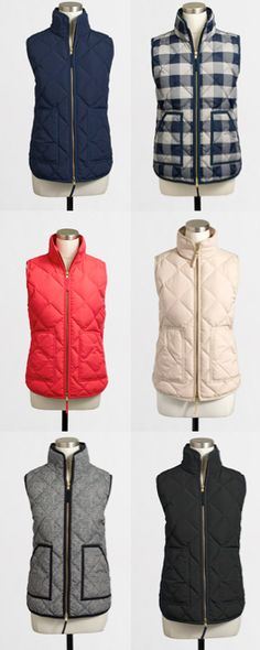 Fall + Winter Must-Have: Quilted vests in every color…