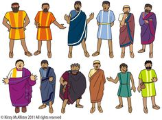 The 12 disciples -- print and laminate with magnet paper