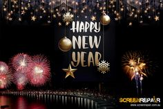 Let us celebrate this exciting, colorful, grand, magical New Year with a great big smile. Screen Repair Wishing you a happy new year 2018 full of happiness and prosperity. Happy New Year 2018, Wish, Happiness, Ceiling Lights, Colorful, Smile, Bonheur, Ceiling Lamps, Being Happy