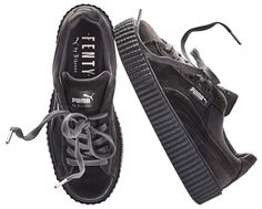 Puma Rihanna Fenty Velvet Creeper Grey Women Size 5-10