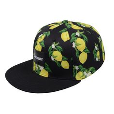 Lemon Fruit Printed Unisex HipHop Baseball Hat Snapback Cap adjustable Strapback #Goldtop #BaseballCap