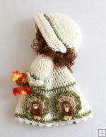 Holiday Broom Dolls 2 Crochet Pattern Leaflet