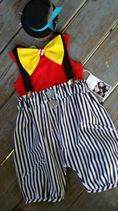 Boys Circus Outfit, Baby Clown Costume, 4 piece, Boys 1st Birthday, Boho, Carnival Photo Prop, Boys Circus Birthday/MYSWEETCHICKAPEA