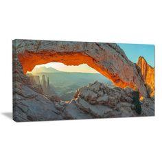 DesignArt Mesa Arch Canyon Lands Utah Park Photographic Print on Wrapped Canvas Size:
