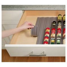 YouCopia 6pk In Drawer Spice Organizer Gray : Target