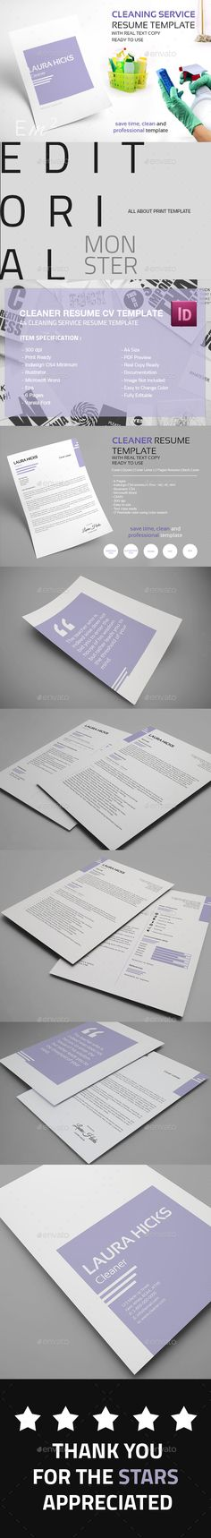 Clean Resume Template Corporate design, Brochures and Graphics - cleaner resume