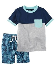 Baby Boy 2-Piece Pocket Tee & French Terry Short Set from Carters.com. Shop clothing & accessories from a trusted name in kids, toddlers, and baby clothes.