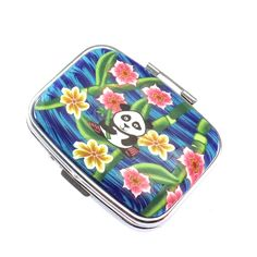 2 Compartment Polymer Clay Covered Pill Box, Pill Case, Colorful Panda Design by polymerclayshed on Etsy https://www.etsy.com/listing/280159256/2-compartment-polymer-clay-covered-pill