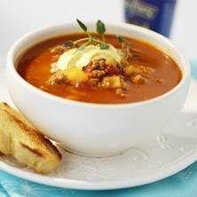 Currydoftande Köttfärssoppa som smakar fantastiskt.
