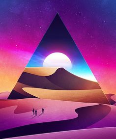 james white's psychedelically smooth sci-fi landscapes are out of this world