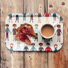 Toast and jam taste better served on a cute tray. #EtsyUK