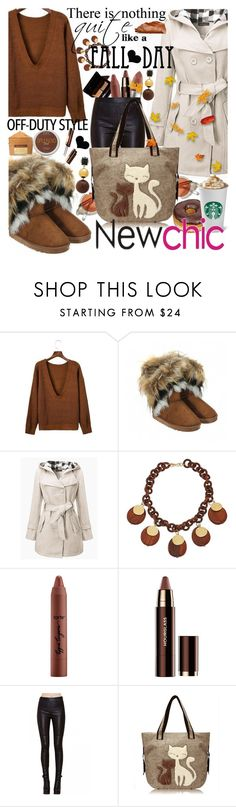 """""""Fall Sweater with #newchic #"""" by anin-kutak ❤ liked on Polyvore featuring Kenneth Jay Lane, MAC Cosmetics, tarte, Hourglass Cosmetics, chic, New, newchic and plus size clothing"""