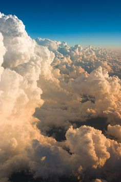 Sitting on a cloud overlooking the clouds