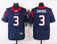 Houston Texans #3 Tom Savage Blue Elite Stitched Jersey Price $25.
